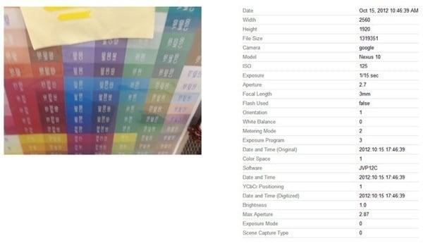 Tabletowo.pl Zdjęcie zrobione Google Nexus 10 znalezione na Picasa Nowości Plotki / Przecieki