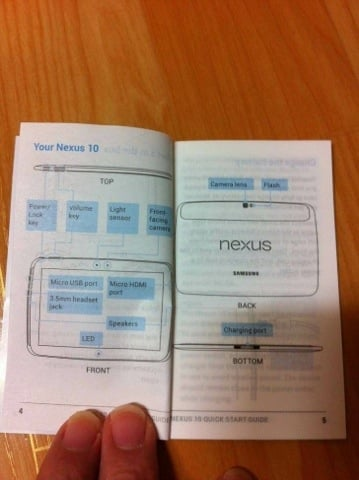 Tabletowo.pl Google Nexus 10 się zbliża. Instrukcja obsługi w sieci Nowości Plotki / Przecieki