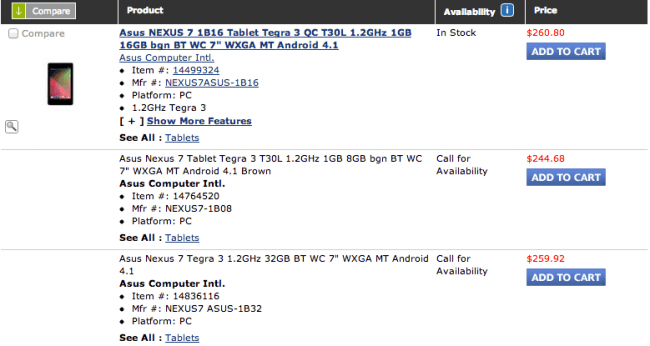 Tabletowo.pl Google Nexus 7 32GB pod koniec października? Asus Nowości Plotki / Przecieki