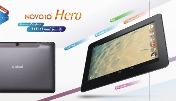 Tabletowo.pl Nadchodzą 10-calowe tablety od Ainola: dwurdzeniowy Novo 10 Hero i czterordzeniowy Novo 10 Hero II Chińskie Nowości