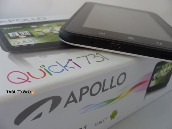 Recenzja tabletu Apollo Quicki 731
