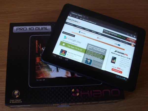 Tabletowo.pl Android Jelly Bean dla Kiano Pro 10 Dual już dostępny Nowości