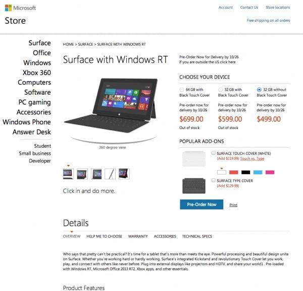 Tabletowo.pl Microsoft Surface RT wyceniony. Zainteresowani? Microsoft Nowości