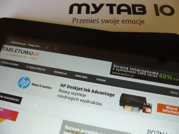 Tabletowo.pl Recenzja tabletu myPhone myTab 10 Nowości Recenzje