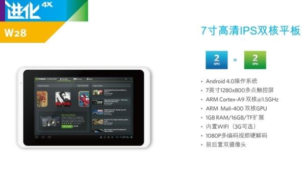 tablet ramos w28