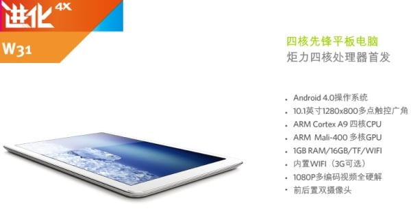 tablet ramos w31