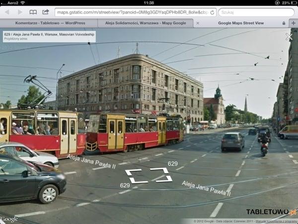 Tabletowo.pl Street View w przeglądarkowej wersji Google Maps na iOS Aplikacje Apple Nowości