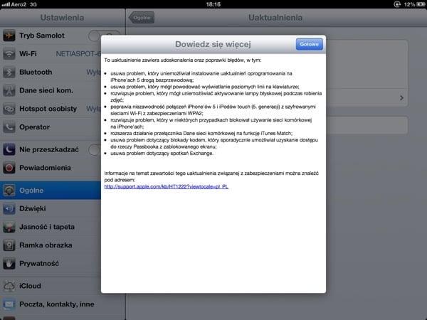 Tabletowo.pl Apple aktualizuje system do iOS 6.0.1 Apple Nowości