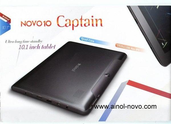 Tabletowo.pl Novo 10 Captain - ekran FullHD i cztery rdzenie od Ainola Chińskie Nowości