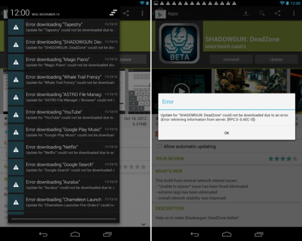 Tabletowo.pl Problem z aktualizacjami w Google Play na Nexus 7 z Androidem 4.2. Znamy już rozwiązanie Asus Ciekawostki Nowości