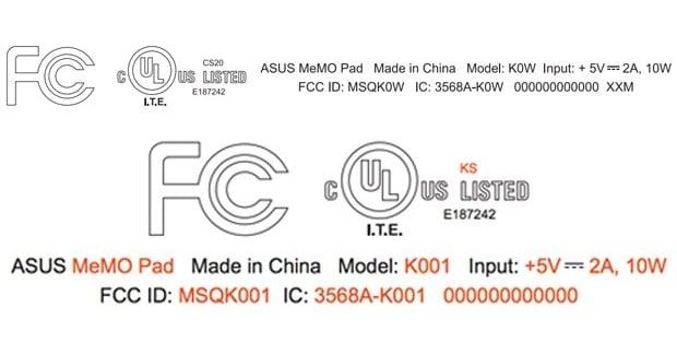 tablety Asus MeMo w FCC