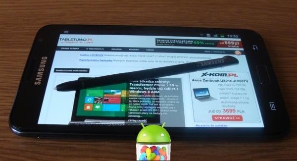 Tabletowo.pl Samsung potwierdza Androida Jelly Bean i Premium Suite dla Galaxy Note Nowości Samsung