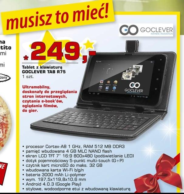 Tabletowo.pl Promocja: Goclever Tab R75 w Intermarche za 199 zł, w Netto - 249 zł Nowości Promocje