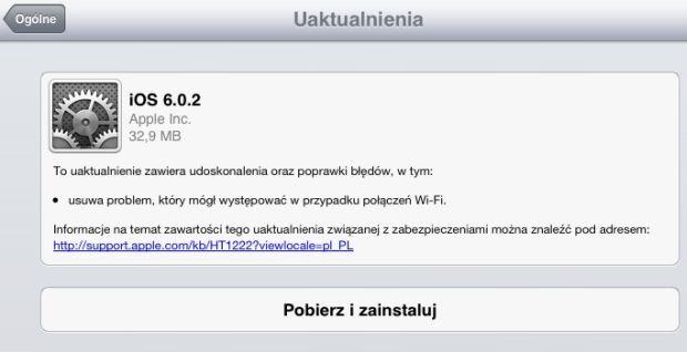 iOS 6.0.2 dla iPada mini i iPhone'a 5