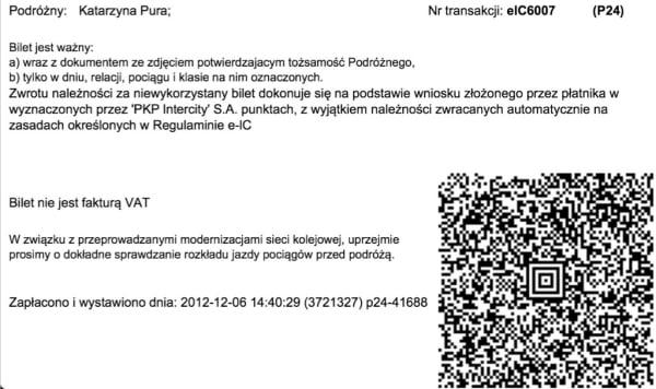 bilet elektroniczny pkp