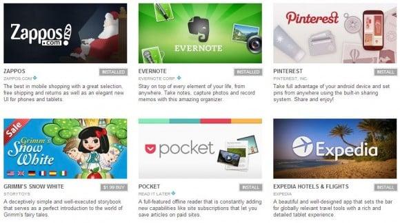 Najlepsze aplikacje na Androida 2012 według Google