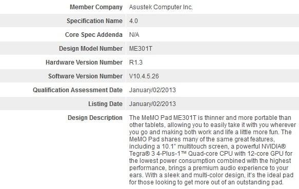 Asus ME301T – 10-calowiec z Tegra 3 i Androidem 4.1.2 JB