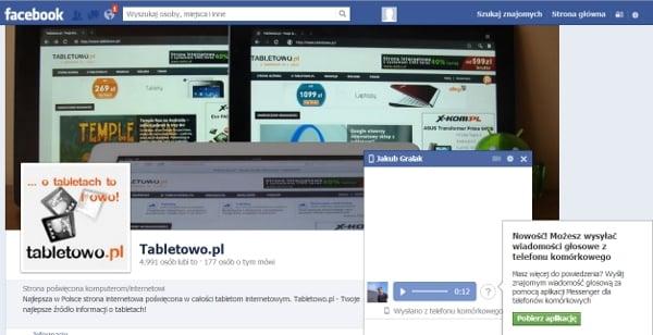 Tabletowo.pl Facebook zaktualizowany o wiadomości głosowe Aplikacje Nowości Social Media