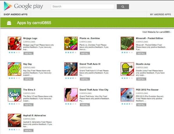 Tabletowo.pl Kolejne fałszywe wersje aplikacji i gier pojawiają się w Google Play Bezpieczeństwo Nowości