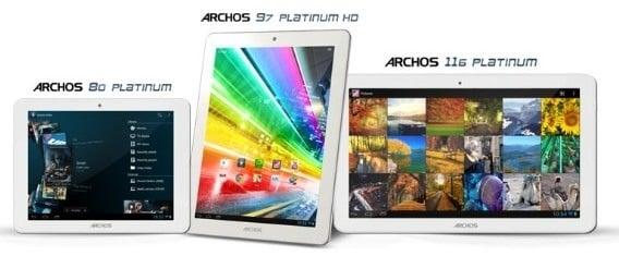"""Tabletowo.pl Archos prezentuje serię tabletów Platinum: 8, 9.7 i 11,6"""" z czterema rdzeniami Nowości"""