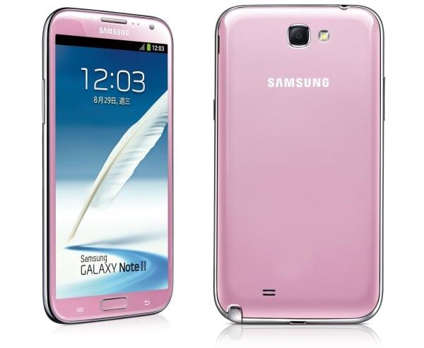 Różowy Samsung Galaxy Note 2