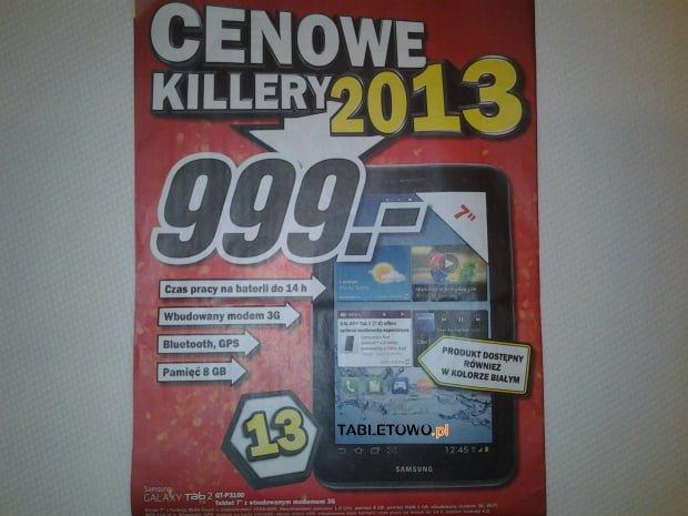 Tabletowo.pl Promocja: Samsung Galaxy Tab 2 7.0 P3100 z 3G za 999 złotych Nowości Promocje Samsung