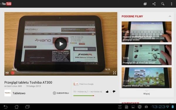Tabletowo.pl YouTube aktualizowany, problem z opcją fullscreen rozwiązany Aplikacje