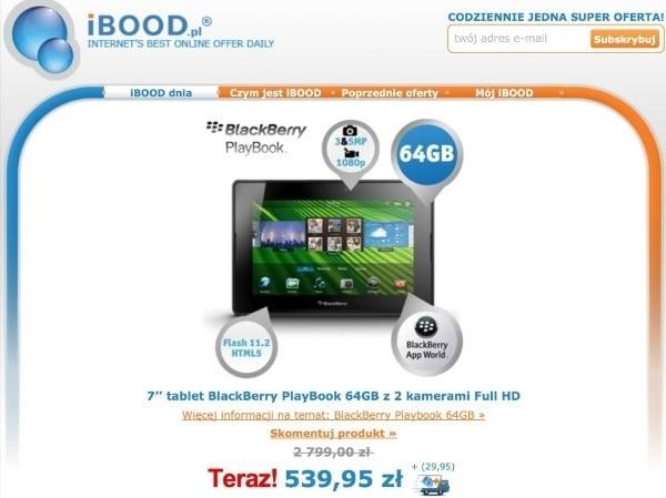 Tabletowo.pl Promocja: Blackberry Playbook 64GB za 570 złotych BlackBerry Nowości