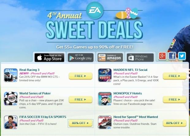 EA obniża ceny gier na Androida i iOS z okazji Wielkanocy