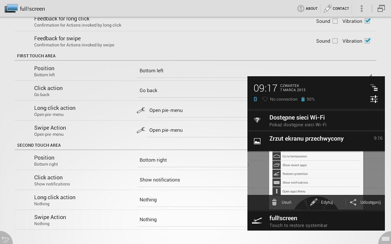 Tabletowo.pl Full!screen pozwoli ukryć pasek nawigacyjny w tabletach z Androidem Aplikacje Nowości