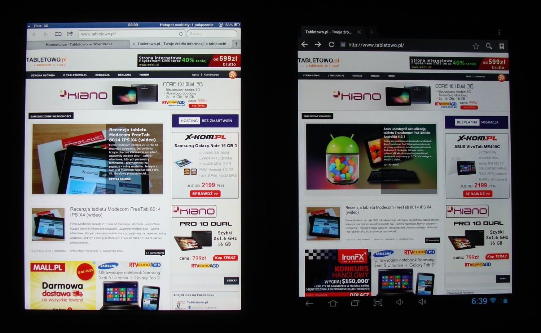 Onda V972 vs ipad 3 ekran