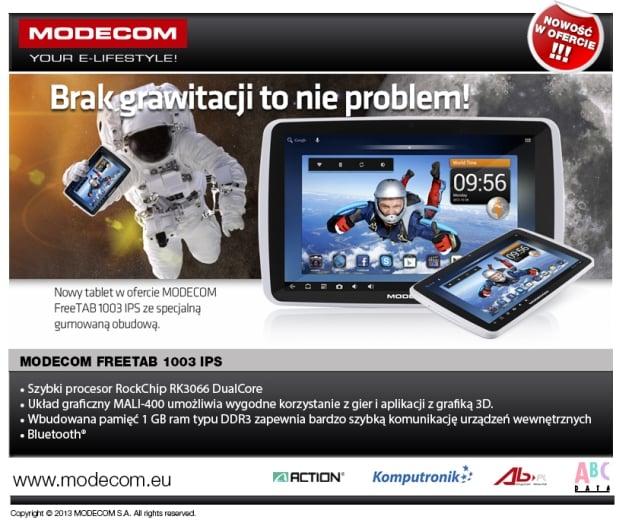 Modecom FreeTab 1003 IPS z gumowaną obudową