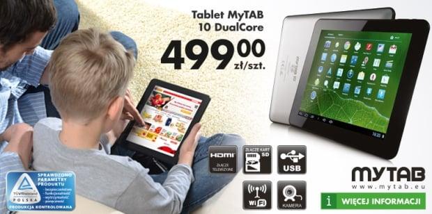 Tabletowo.pl Promocja: MyPhone MyTab 10 Dual Core za 499 złotych w Biedronce Nowości Promocje