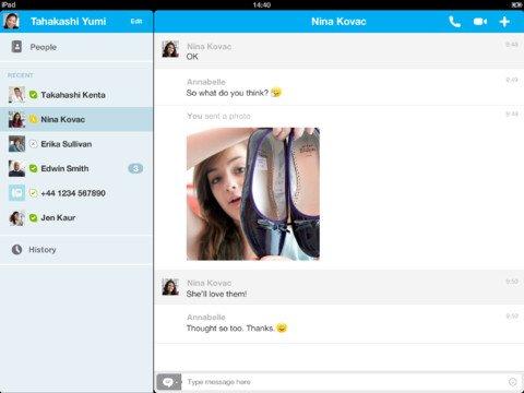 Tabletowo.pl Skype dla iOS w wersji 4.6 Aplikacje Apple