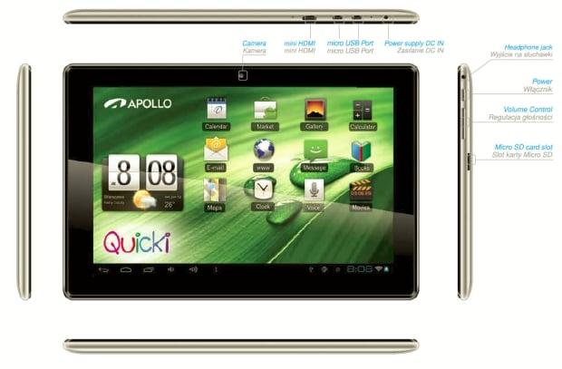 """Tabletowo.pl Apollo Quicki 1150: dwa rdzenie, 10,1"""" IPS i Android 4.1 Nowości"""