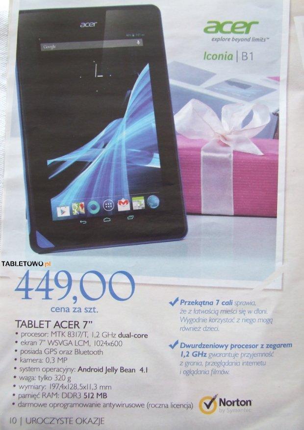 Promocja: Acer Iconia B1 z Nortonem za 449 złotych
