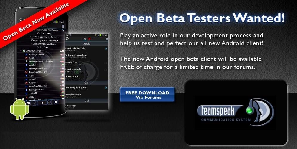 Tabletowo.pl Teamspeak Open Beta na Androida Aplikacje Nowości