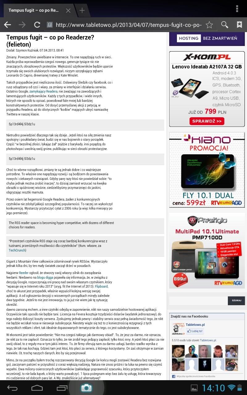 Tabletowo.pl Recenzja tabletu Kruger&Matz KM1010 (wideo) Nowości Recenzje
