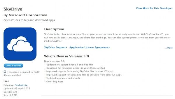 Tabletowo.pl SkyDrive na iOS akutalizowane do wersji 3.0 Aplikacje