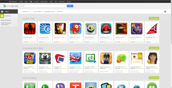 nowy google play