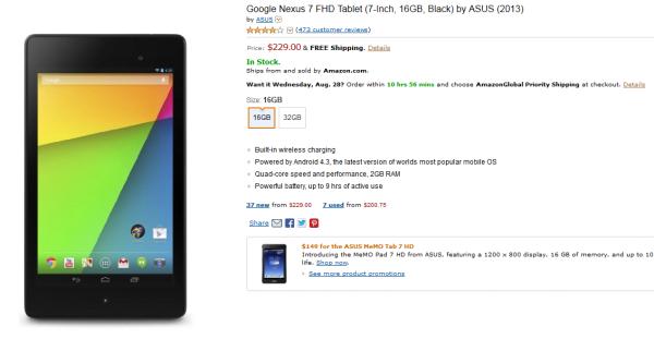 Amazon US i UK wysyła nowe tablety Google Nexus 7 także do Polski 18