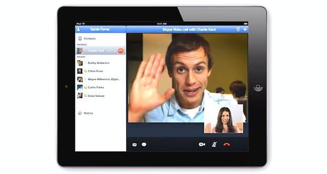 Tabletowo.pl Skype na iPada zaktualizowany o możliwość rozmów wideo w HD Aplikacje Apple