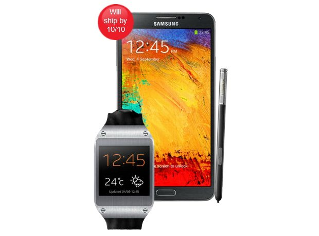 Samsung Galaxy Note 3 z Galaxy Gear wycenione na 999 dolarów