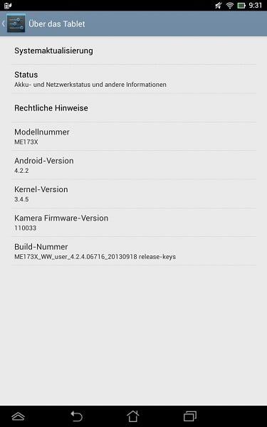 Asus MeMo Pad 7 HD zaktualizowany do Androida 4.2.2