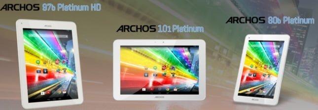 Archos 87b Platinum HD, 101 Platinum i 80b Platinum