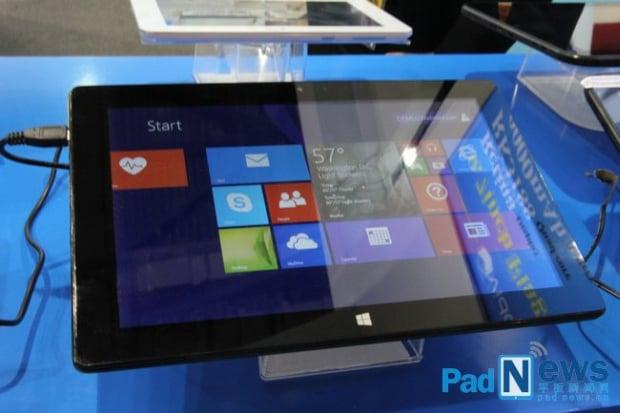 Vido W10 z Windows 8 i Intel Atom Z3770 na Hong Kong Electronics Fair