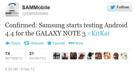 Android 4.4 KitKat dla Galaxy Note 3