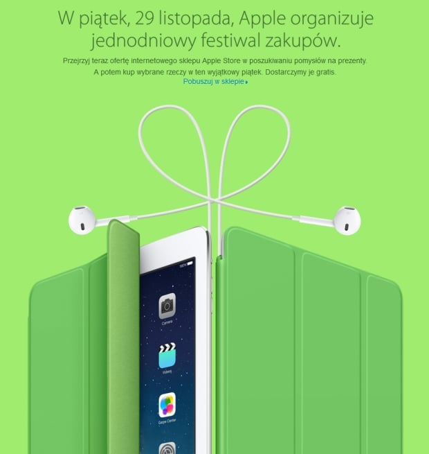 Jednodniowy Festiwal zakupów w Apple Online Store - 29 listopada