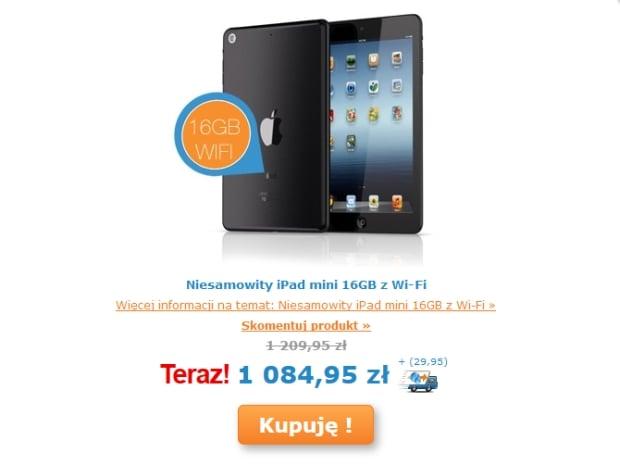 Promocja: iPad mini 16GB WiFi za 1115 złotych na Ibood (bez Retiny)