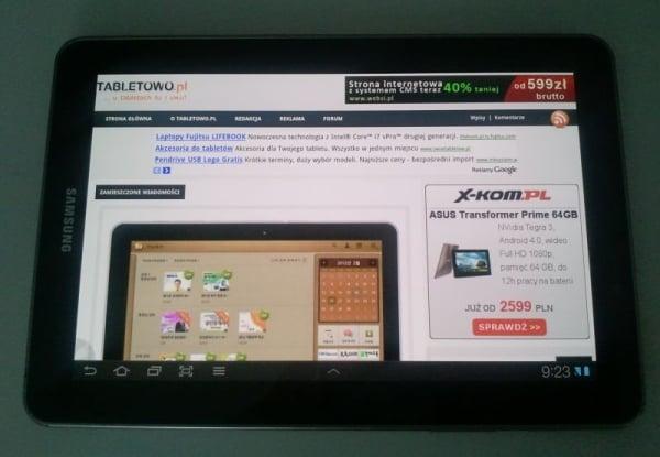 Recenzja Samsunga Galaxy Tab 7.7